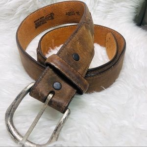 Justin top grain leather belt size 31-35